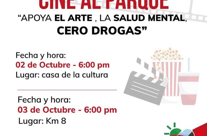 Cine al parque será los próximos 2 y 3 de octubre de 2020