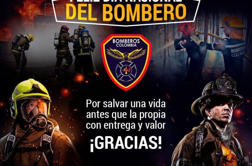 Feliz día a  nuestros bomberos de pto wilches.