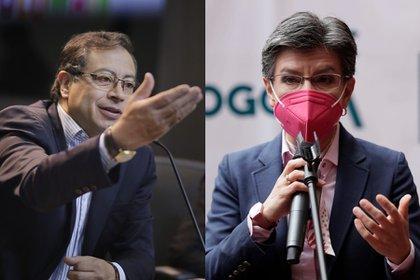 Claudia López critica a Petro por no salir a marchar