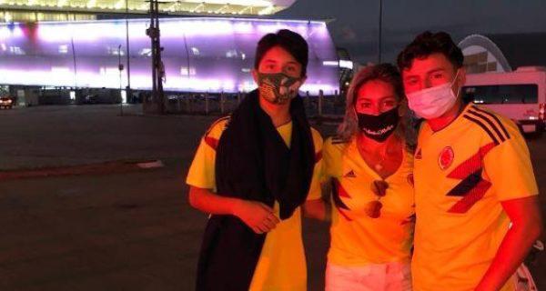 ¡La colombianada! Familia viajó a la Copa América y allá se enteró que era sin público