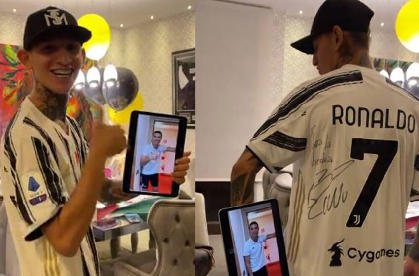 «Puedo morir en paz»: La Liendra emocionado con el saludo y camiseta que le envió Cristiano Ronaldo