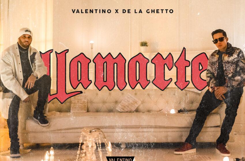 """VALENTINO PRENSENTA """"LLAMARTE"""" JUNTO A DE LA GHETTO"""