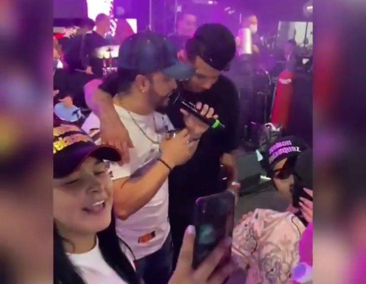 Video: Edwin Cardona fue visto en tremenda rumba junto al cantante Nelson Velásquez