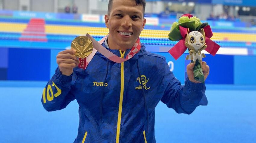 Nadador Nelson Crispín gana medalla de oro para Colombia en los Juegos Paralímpicos