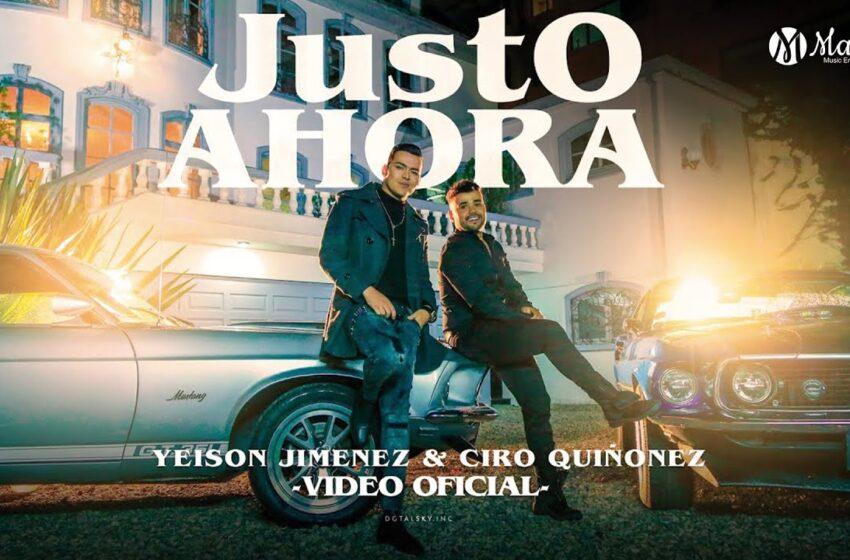Ciro Quiñonez y Yeison Jiménez presentan 'Justo ahora'